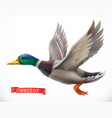 duck hunting 3d icon vector image vector image