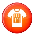 Electronic t-shirt icon flat style vector image vector image