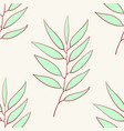 eucalyptus seamless pattern blue agonis thyme vector image vector image