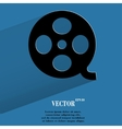 Film Flat modern web button with long shadow and vector image
