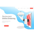 flat landing page template of table online vector image vector image