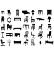 Furniture silhouette set vector | Price: 1 Credit (USD $1)