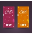 Gift card templates with stars on background vector image vector image