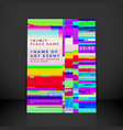 glitch background poster template vector image vector image