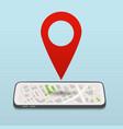 gps navigation concept vector image vector image
