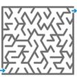 gray maze vector image vector image