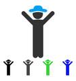 happy gentleman flat icon vector image vector image