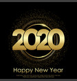 happy new year christmas card with gold shiny vector image vector image