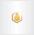 honey drop logo icon vector image vector image