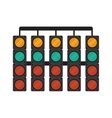 Isolated semaphore lights design vector image vector image