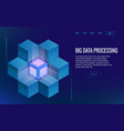 Isometric digital technology web banner analysis