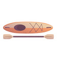 kayak boat with paddle cartoon vector image vector image