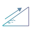 line statistics diagram with arrow growing vector image vector image