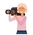 man holding videocamera design vector image vector image