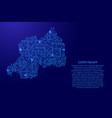 map rwanda from printed board chip and radio vector image vector image