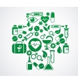 medical cross with health icon set on white vector image vector image