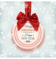 Merry Christmas and Happy New Year badge vector image vector image