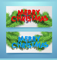 merry christmas winter horizontal banners vector image vector image