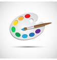 Modern art palette with brush and eight colors vector image vector image