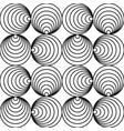 monochrome seamless circle pattern - swirl vector image