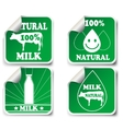 Natural milk product stickers vector image