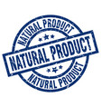 natural product blue round grunge stamp vector image vector image