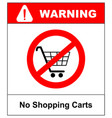 No shopping cart sign