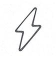 outline electric lightning bolt thunderbolt vector image vector image