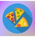 Pizza Slice Icon flat icon vector image