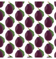 Plum fruits pattern vector image vector image