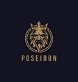 poseidon nepture god logo icon tritont trident vector image