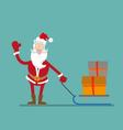 Santa Claus and gifts vector image