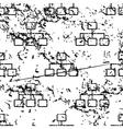 Scheme pattern grunge monochrome vector image vector image