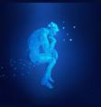 sci fi thinker vector image