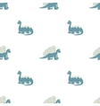 Seamless pattern Blue dinosaurs vector image vector image