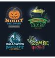 set halloween badges vector image
