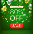 special offer concept 80 percent off vector image vector image