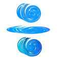 swirly circular water icon vector image