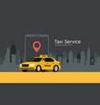 taxi service cab app design flyer taxi vector image
