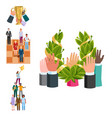 team work people management business concept vector image vector image