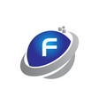 technology motion synergy letter f vector image