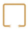 torn rope frame vector image