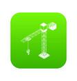 tower crane icon green vector image
