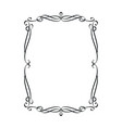 vintage calligraphic frame vector image vector image