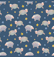 watercolor sheep pattern vector image