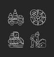 winter holidays service chalk white icons set vector image