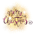 Xmas Greeting Card with Lettering vector image