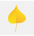 yellow birch leaf icon flat style vector image vector image