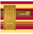 yellow door in the wall for text vector image vector image