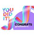 you did it congratulations graduates class vector image